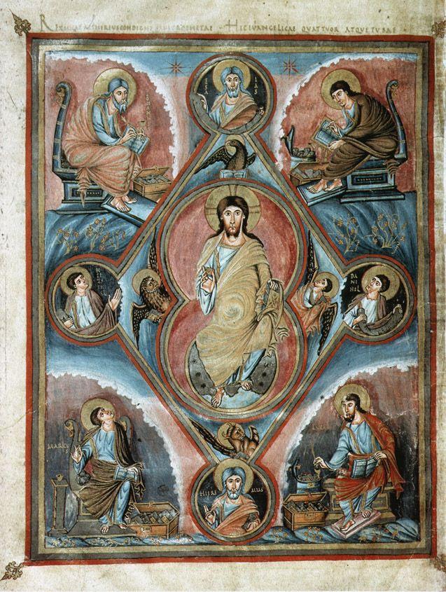 First Bible of Charles the Bald(Vivian Bible) Evangelists & Prophets Carolingian ca. 860 CE Paris, Bibliotheque Nationale Ms. Lat. 1, folio 329v
