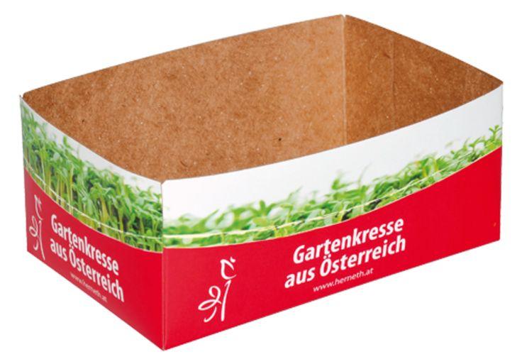 """#Kräuterschale • #Schale für direkten Lebensmittelkontakt. • """"Fruit Protector"""" ohne optische Aufheller • Frischfaserpapier auf der Innenseite • Verwendung #Low-Migration Farben und Lacke • #Dinkhauser Kartonagen, #Lebensmittelverpackungen"""