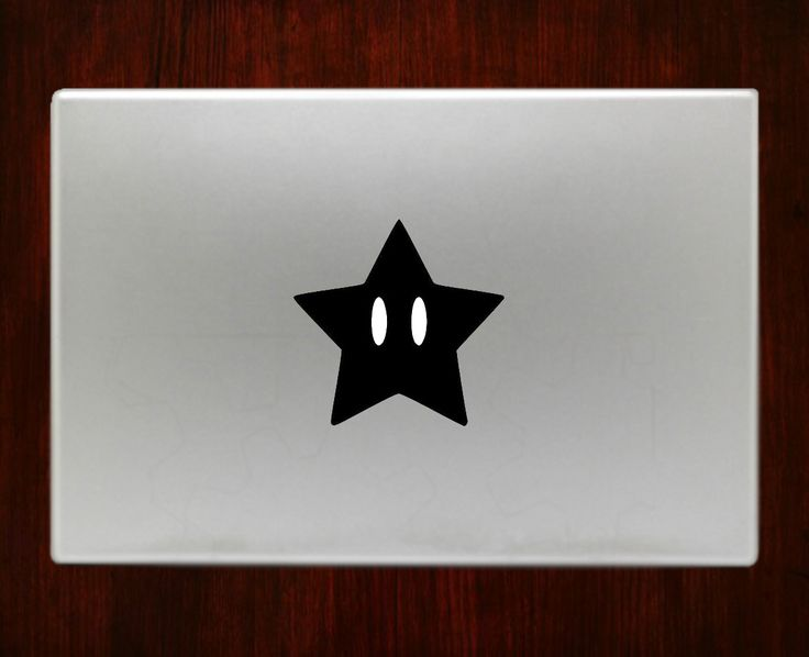 "super mario star Decal Sticker Vinyl For Macbook Pro/Air 13"" Inch 15"" Inch 17"" Inch Decals Laptop Cover"