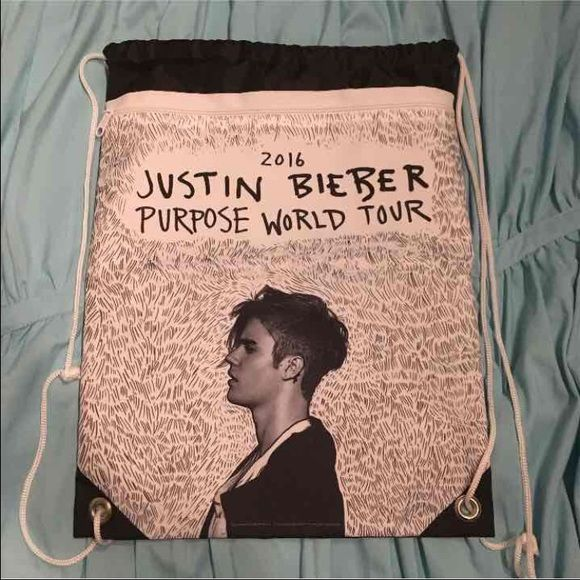 justin bieber purpose world tour vip merch bag brand new. BAG ONLY NOTHING ELSE. can only get with the WAUN VIP WHICH IS ALL SOLD OUT. Bags