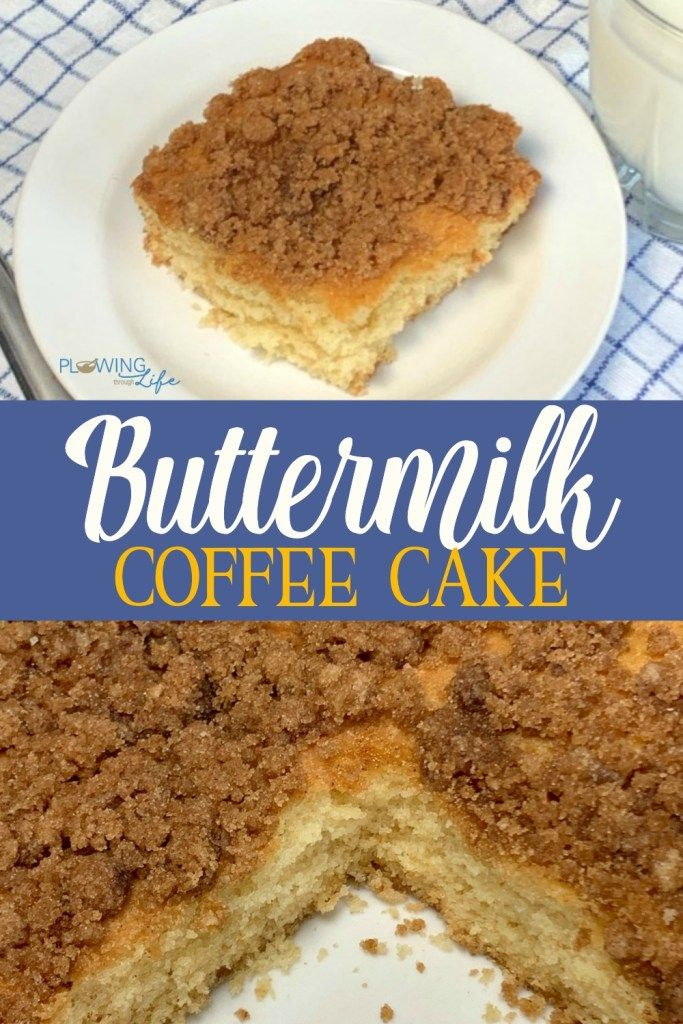 This Rich Buttermilk Cake With A Sweet Brown Sugar Streusel Topping Is So Easy To Make In A 9 13 Pan And Buttermilk Coffee Cake Buttermilk Recipes Coffee Cake
