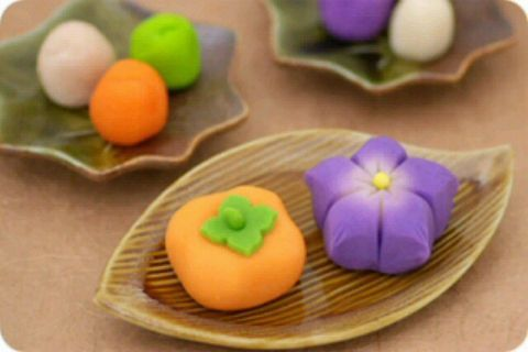 fall wagashi #japan persimmon #fallflower