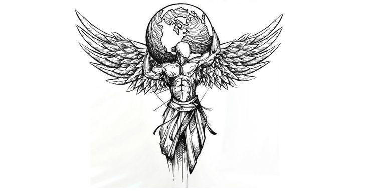 Tattoo mit Flügeln – Tattoos – #bleistiftzeichnungen #Tattoo #Tattoos #Wings