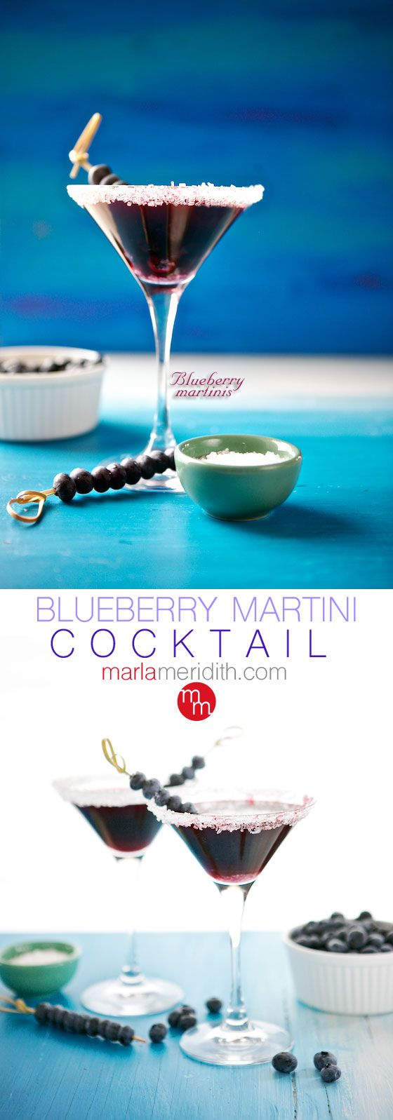 Blueberry Martini Cocktails | MarlaMeridith.com