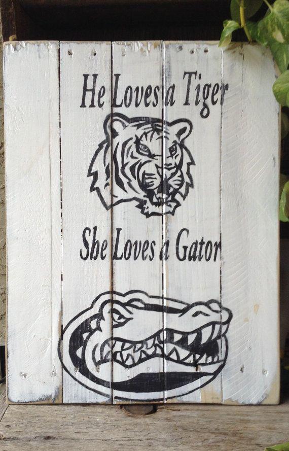 LSU Tigers, Florida Gators, Pallet Art, Distressed,SEC, Football, Ohio state Buckeye,Wooden Signs, wedding Gift,