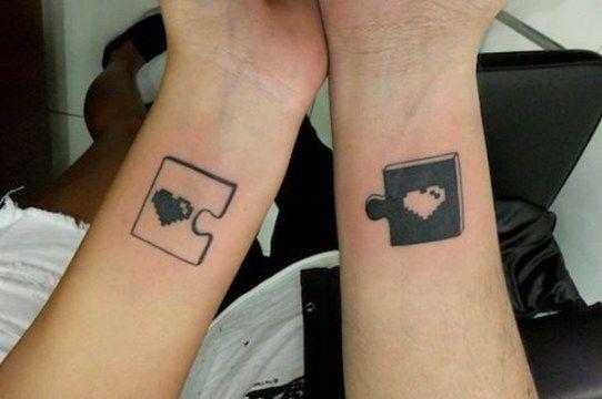 ... matching couple tattoo heart shape lock key matching couple tattoo