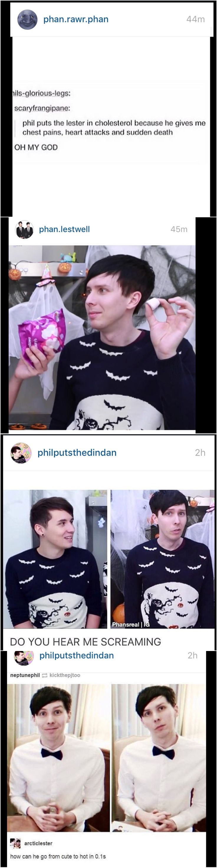 ok but dan literally said he was borrowing the sweater from phil omg sinking this ship
