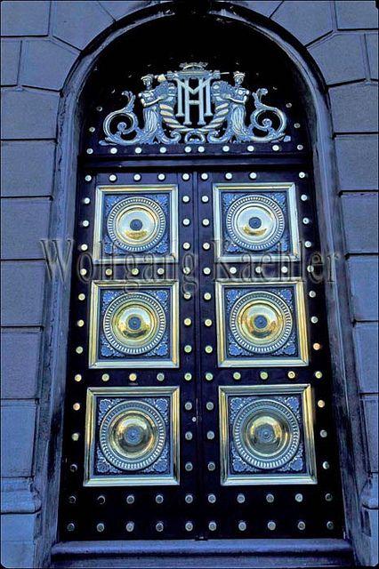 Chile, santiago, downtown, government building, detail of brass door // via Darlene Majkich