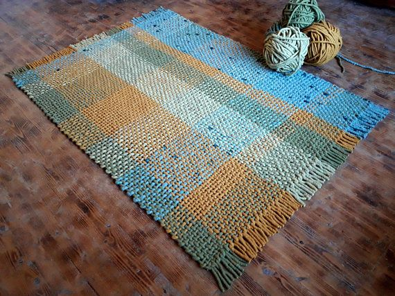 #woolrug #interior #natural #oneofakind listing at https://www.etsy.com/listing/575792797/wool-rug-5x7-woven-area-rug-green