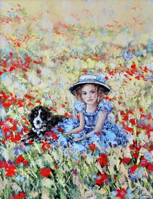 art,now.ru   Гунин Александр. Голубое платье   c ...