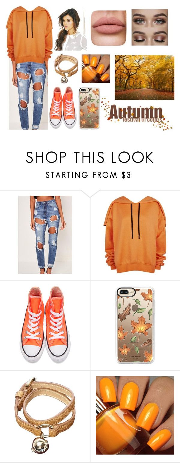 """""""Orange is for the Fall"""" by soccergrl865 ❤ liked on Polyvore featuring Unravel, Converse, Casetify, Mulberry, Floss Gloss, Fall, outfit, fashionable and fall2017"""