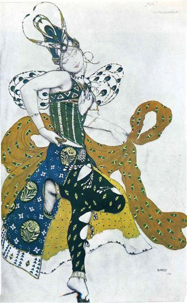 Sketch for the ballet 'La Peri', by Paul Dukas, 1911 by Leon Bakst. Art Nouveau…