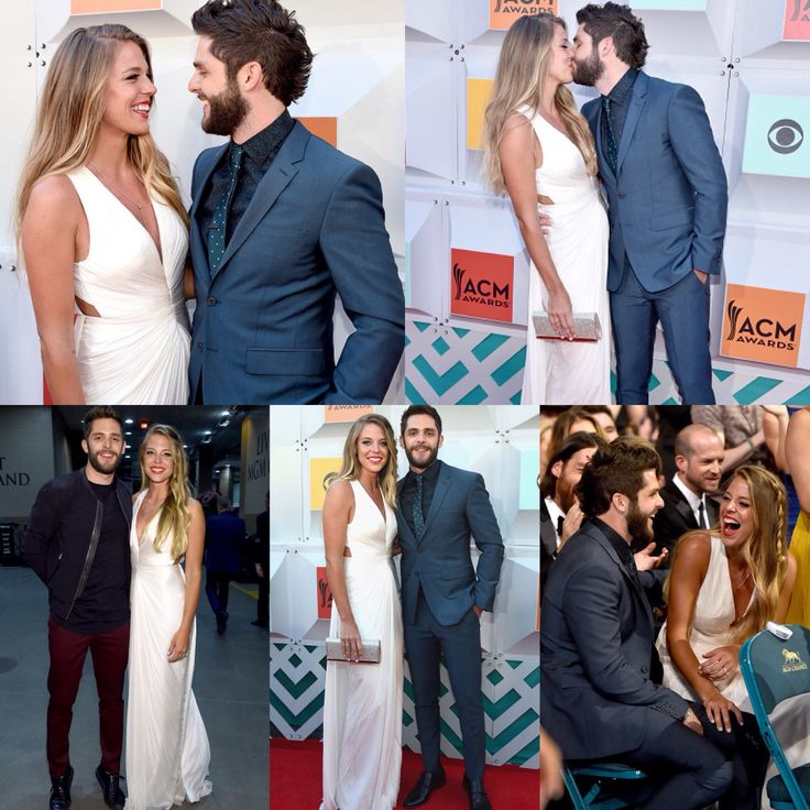 Thomas Rhett and Lauren Gregory attend the 51st Academy of Country Music Awards at MGM Grand Garden Arena on April 3, 2016 in Las Vegas, Nevada.