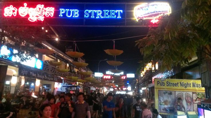 Pub Street. Siem Reap, Cambodia.