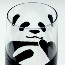 Panda, glass for milk