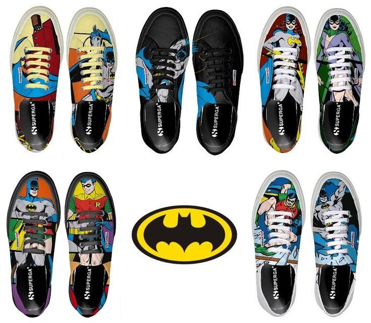 Superga Scarpe estive Batman e Robin Colorate Uomo Donna+Costume Catwoman+Disney