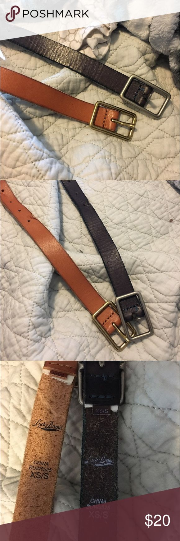 Lucky Brand belts - set of 2 Never worn Lucky Brand leather belts! If you want just one , leave me a comment! Size XS/S. Offers always welcomed !!! Lucky Brand Accessories Belts