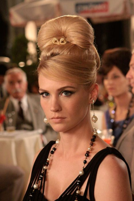 January Jones + beehive in Mad Men.