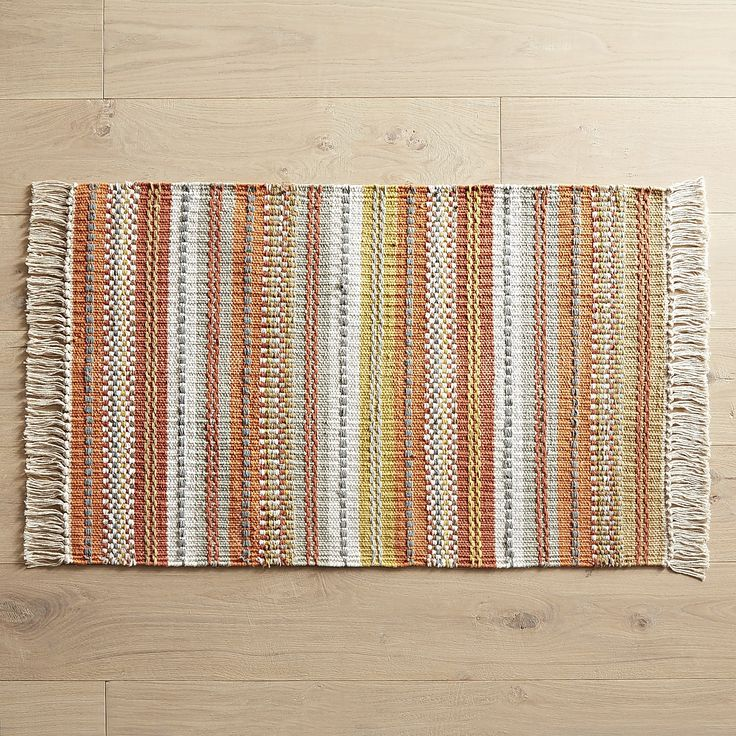 Warm Tones, Fringed Edges And A Soft Texture Make Our Versatile Hand Woven  Rug A Nice Choice For Your Kitchen, Entryway Or Hall.
