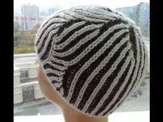 """Женская шапка"""" Бриошь"""" для начинающих ( knitting cap brioche) - YouTube"""