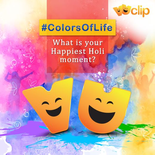 The spirit of #Holi is about letting your hair down, breaking the norms and soaking into the fervour, which gives you moments to cherish. Share those memories & relive them. VUCLIP wishes everyone a very #HappyHoli!