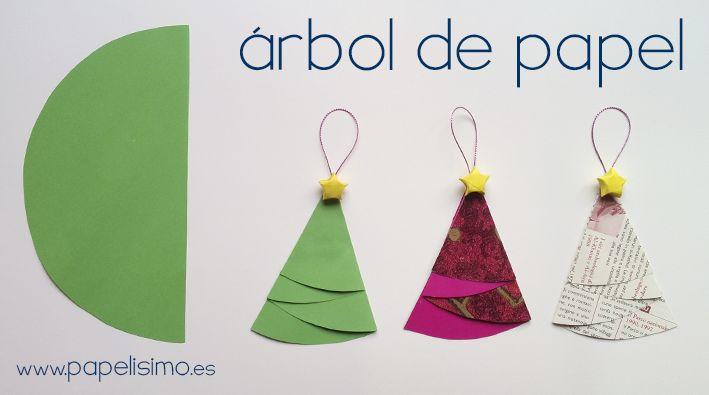 C mo hacer adorno navide o rbol de papel navidad http - Adornos de navidad con papel ...
