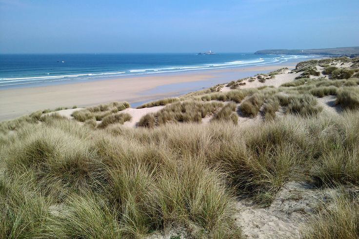 Near Hayle, Cornwall - Great views of St Ives from this beach and fantastic soft white sand...so beautiful.