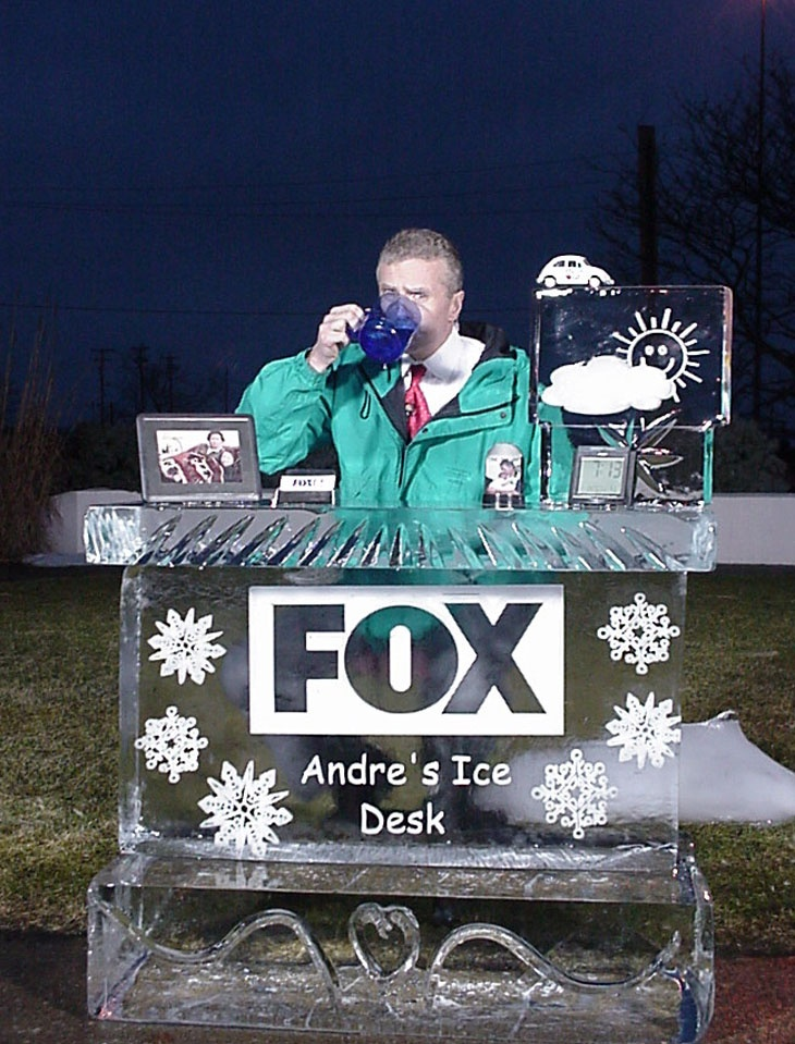 Fox 8 News Cleveland Weather Desk Ice Carving