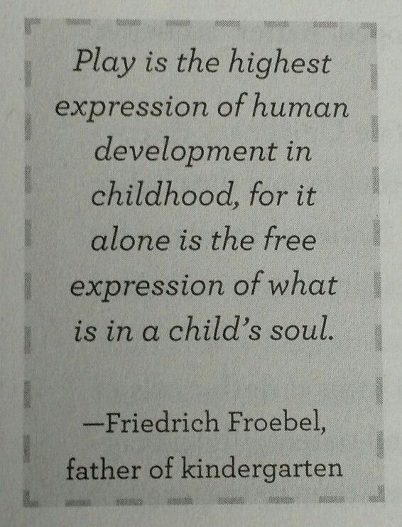 philosophy of play in early childhood