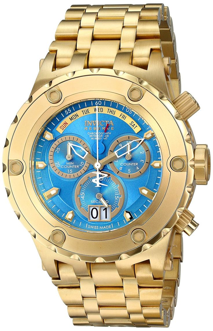 Gold watches : Invicta Men's 16884 Subaqua Analog Display Swiss Quartz Gold Watch
