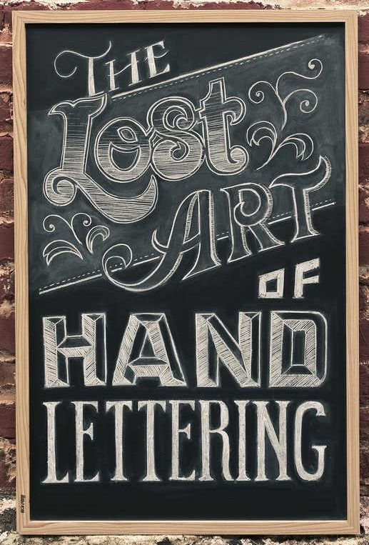 40 great lettering examples on hand painted signs
