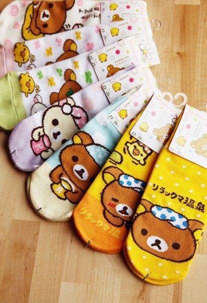 Kawaii Bear Socks