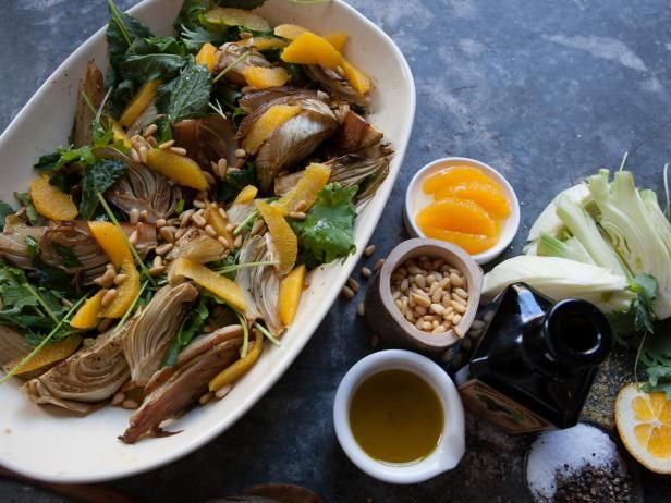 Get Laura Vitale's Roasted Fennel with Oranges and Greens Recipe from Cooking Channel