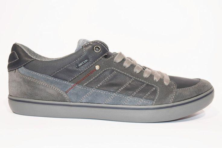GEOX U64R3F 022ME C4002 BOX SUEDE WAX Sneakers Uomo Invernale Pelle Camoscio