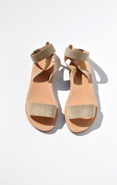 LA BOTTE GARDIANE MAGE SANDAL, BEIGE  Handcrafted suede leather sandal |   La Botte Gardiane, renowned for fine craftsmanship of leather sandals and boots, was established in 1958