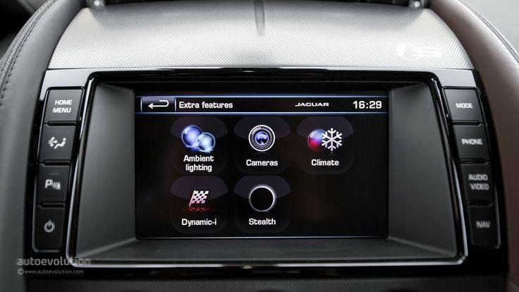Jaguar F-Type infotainment menu