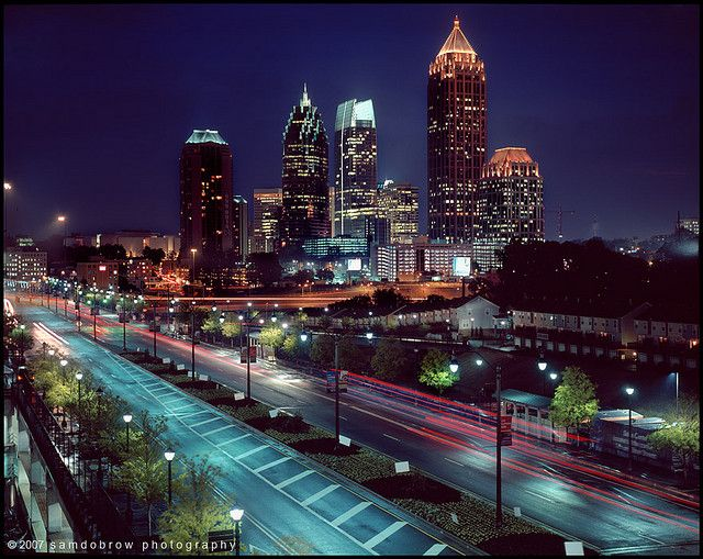 The beautiful Atlanta skyline from Twelve Hotel.