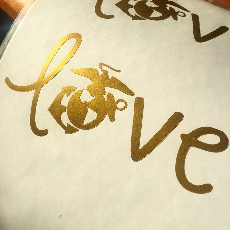 Love USMC - Marine Corp - Vinyl Sticker Decal by DukeCityDecals on Etsy