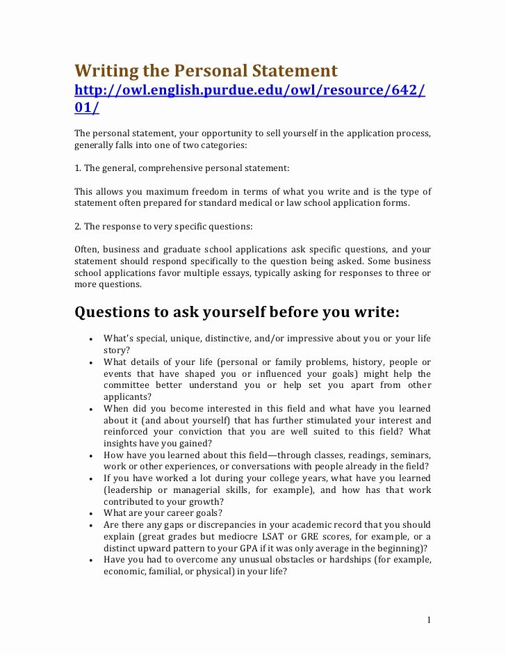 Professional Personal Statement Writers General Example Cv