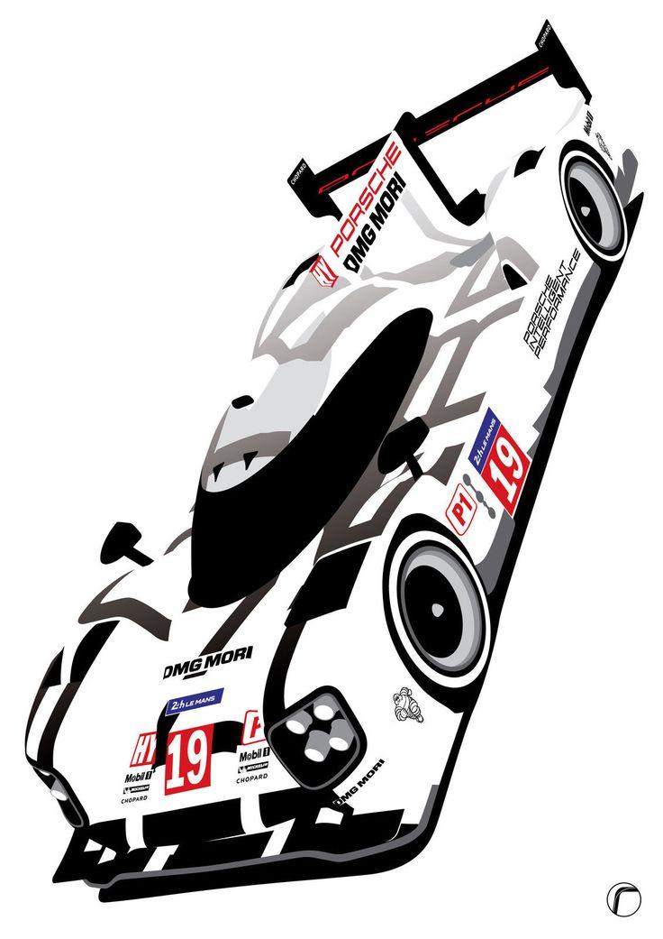 Porsche 919 2015 Le Mans 24hr Winner Hulkenberg, Tandy, Bamber A4 or A3 HD Print in Sports Memorabilia, Motor Sport Memorabilia, Le Mans | eBay