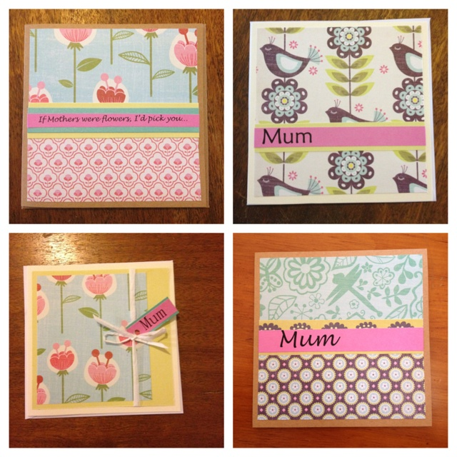 Mummy's day cards