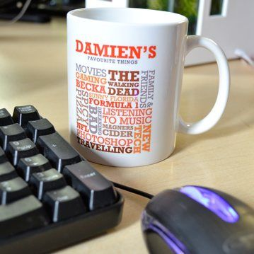 Personalised Favourite Things Mug