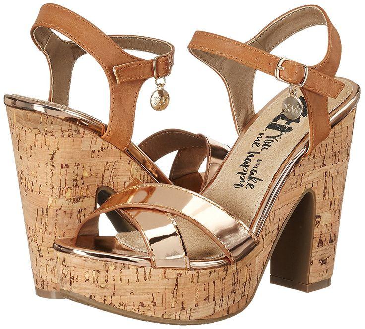 XTI Damen Nude Mirror Pu Ladies Sandals Pumps Sandalen: Amazon.de: Schuhe & Handtaschen