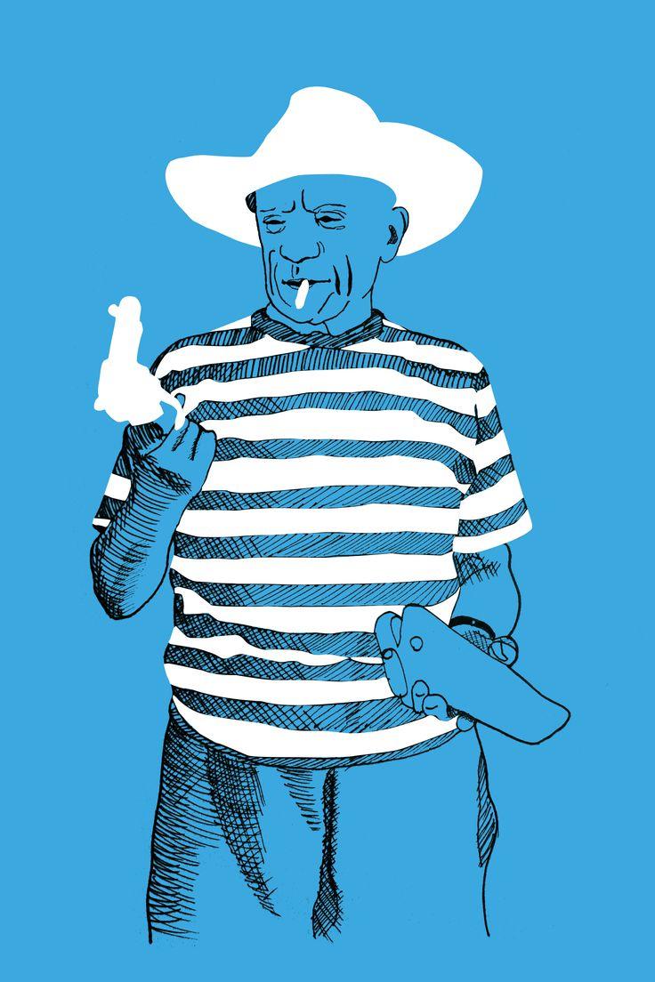 Pablo Picasso Illustration