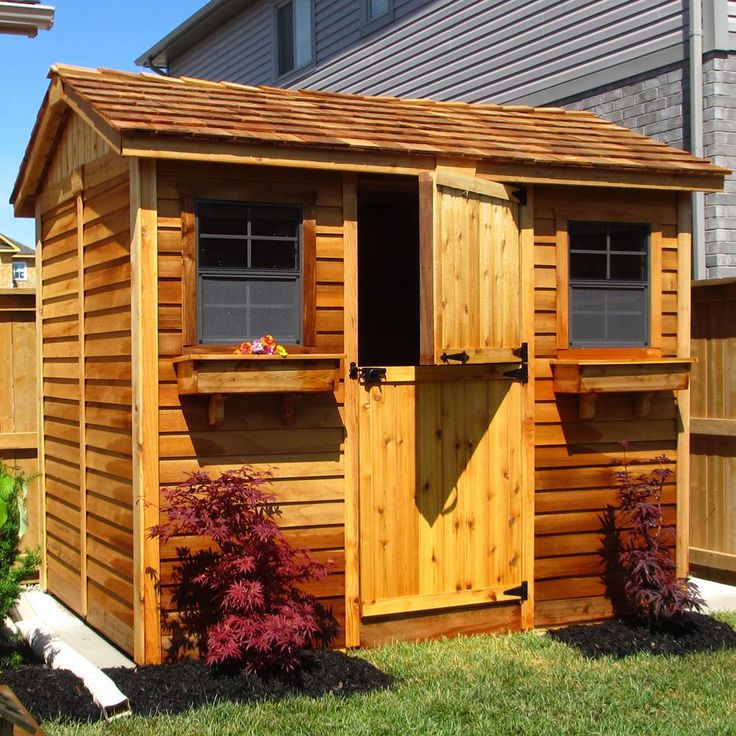 Outdoor Living Today Cabana 6 ft. x 9 ft. Western Red ... on Outdoor Living Today Cabana id=34965