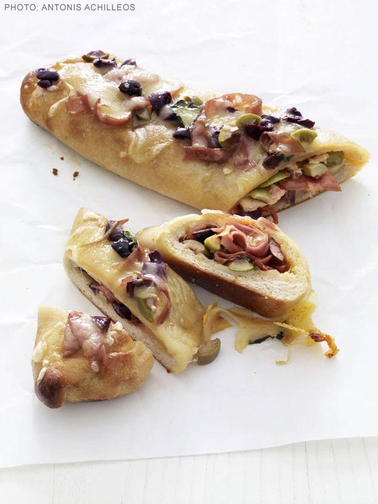 Mortadella Stromboli recipe from Food Network Kitchen via Food Network