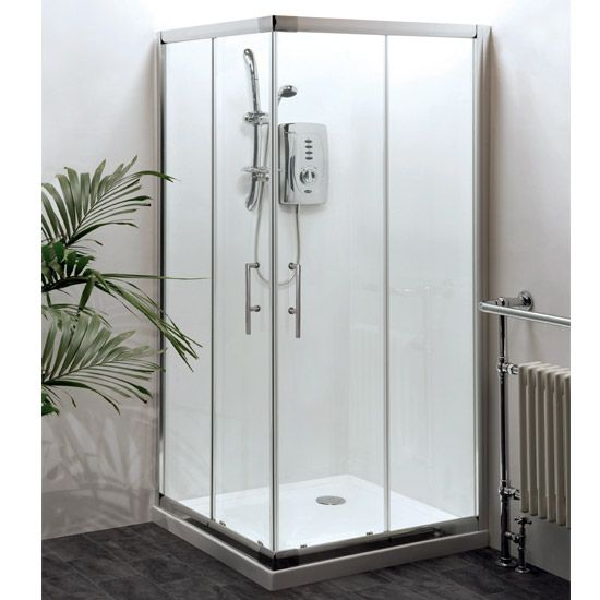 Shop the Aegean Corner Entry Square Shower Enclosure w/ Shower Tray and Waste. Features 6mm toughened safety glass. Now at Victorian Plumbing.co.uk.