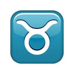 BO - signe du zodiaque bleu taureau - smiley émoticône clipart cartoon - téléchargement gratuit et sans inscription