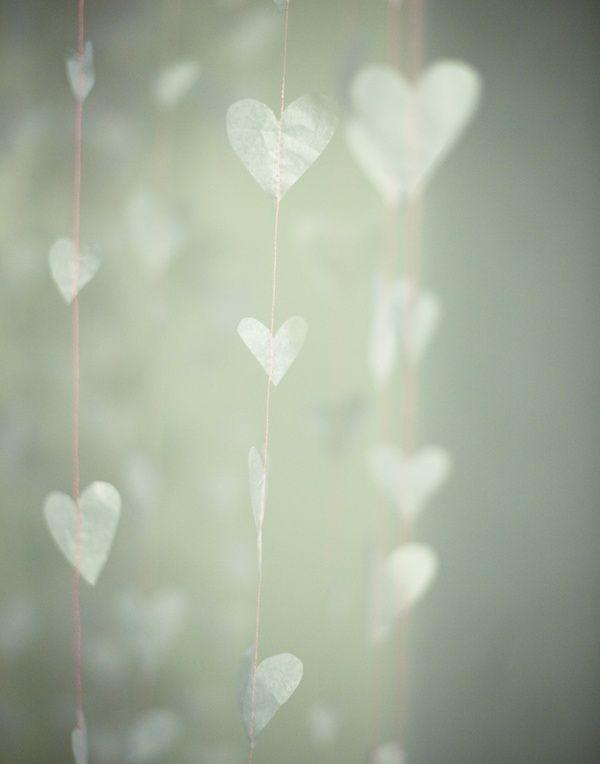 heart-shaped wind chimes