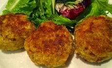 These lemony tuna patties are a great way to use up leftover mashed potato and the feta cheese gives them a real bite. Serve them up with fresh salad.